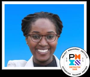 Priscilla with DASM badge 2021