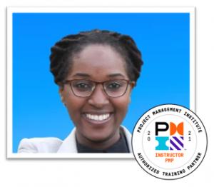 Priscilla with badge 2021